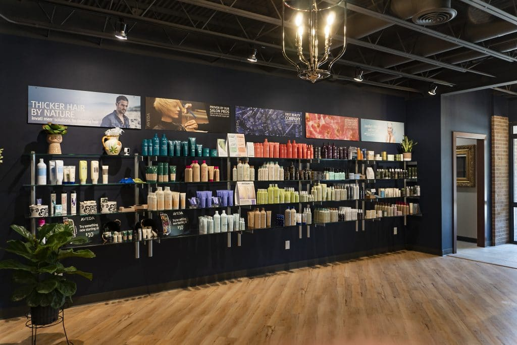 Aveda Product Wall